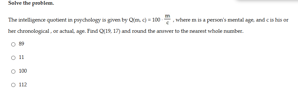 intelligence quotient questions