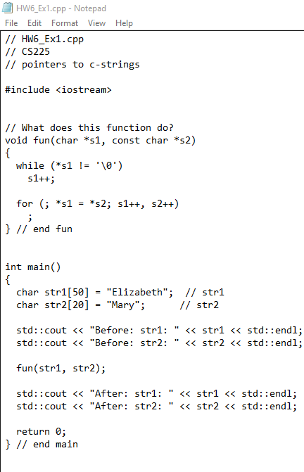 Solved: EXERCISES:C++ Langauge 1  (9%) What Does This Func
