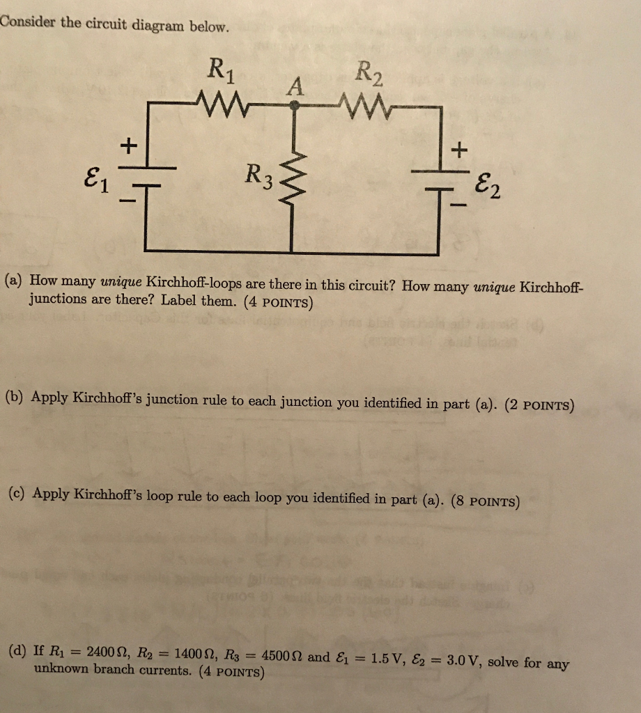 How To Solve Circuit Diagrams | Solved Consider The Circuit Diagram Below How Many Uniqu