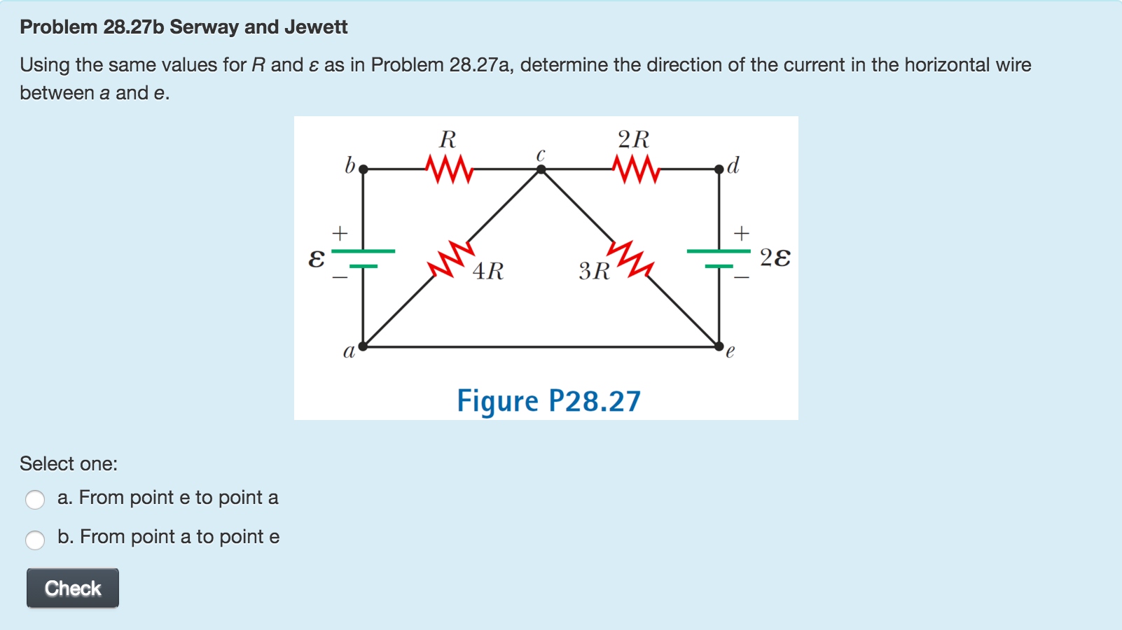 Solved Taking R 300 Kohm And Epsilon 248 V In Figure Jewett Wiring Diagram Transcribed Image Text P2827 Determine The Magnitude Of Current Horizontal Wire Between
