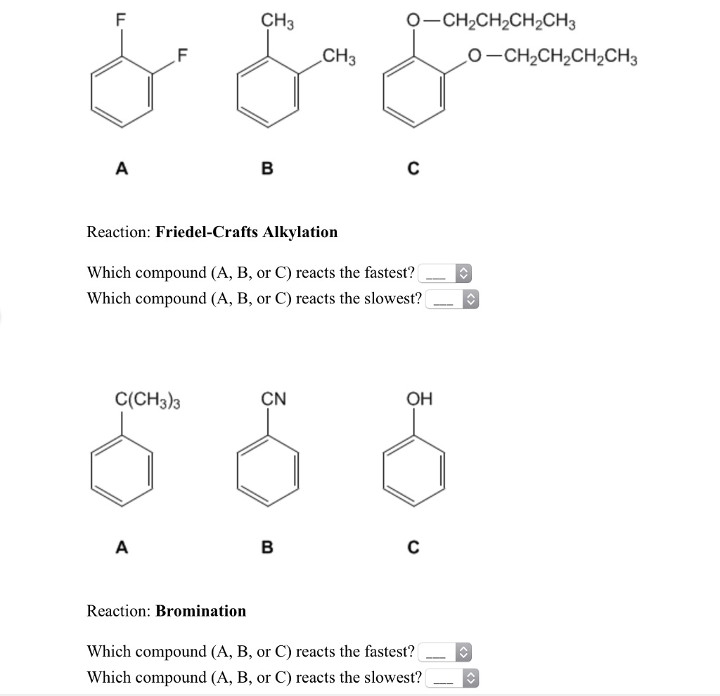 Solved: Reaction: Friedel-Crafts Alkylation Which Compound
