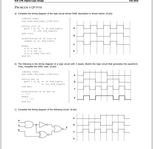 Solved complete the timing diagram of the logic circuit w complete the timing diagram of the logic circuit w ccuart Image collections