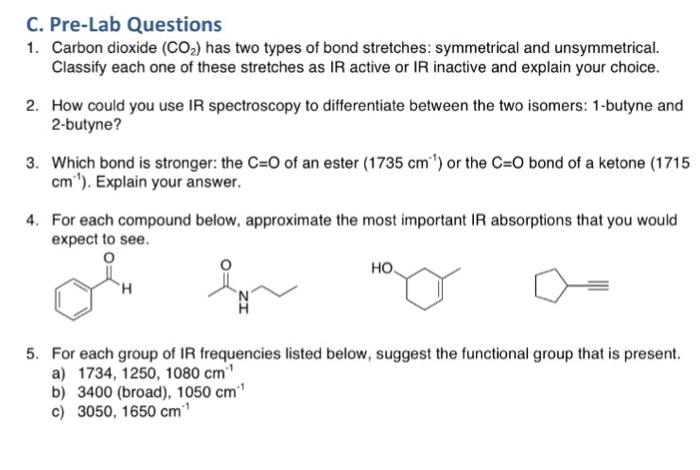 Solved: IR Spectroscopy Organic Chemistry Help!!!! Please