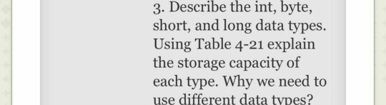 Solved: 3  Describe The Int, Byte, Short, And Long Data Ty
