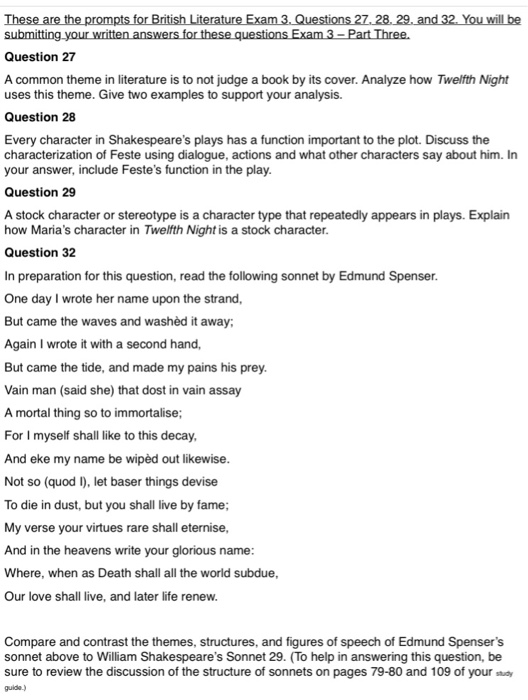 Question 27 A Common Theme In Literature Is To Not    | Chegg com