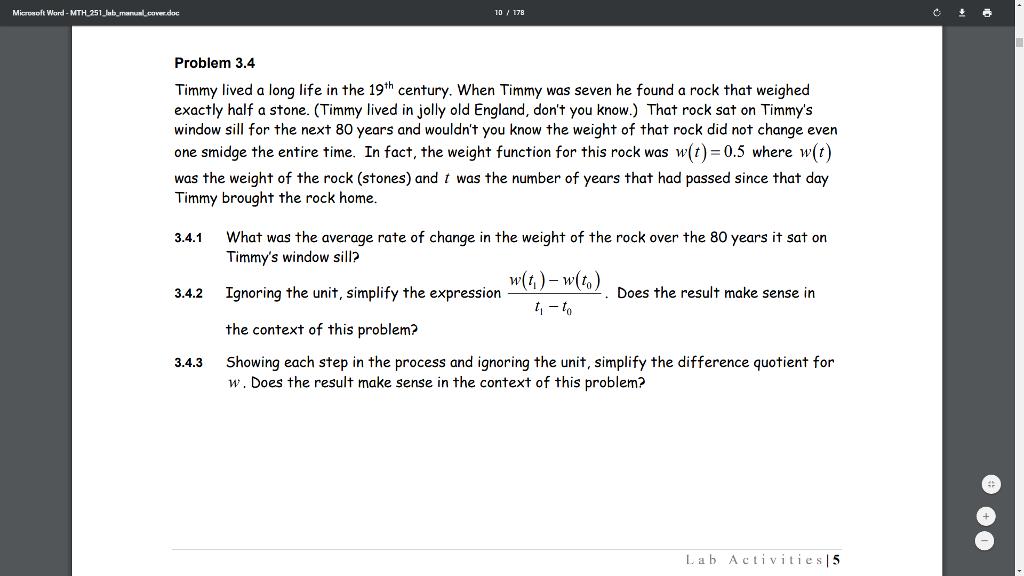 Solved: Microsoft Word -MTH 251 Lab ManuaLcoverdoc Problem