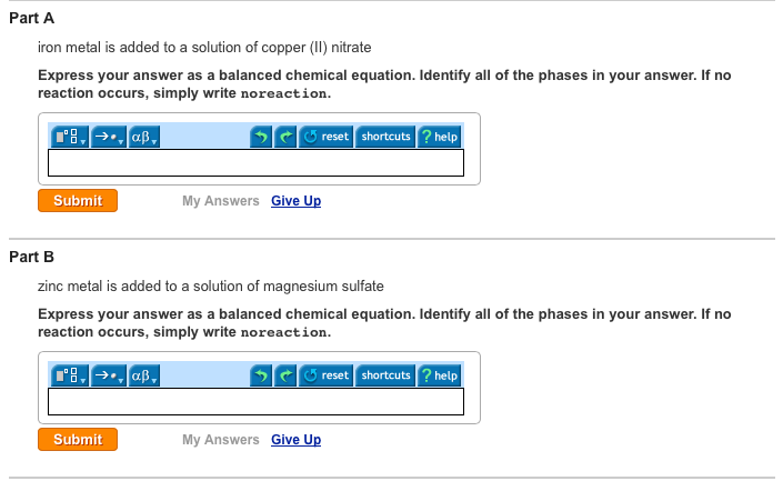 Solved Iron Metal Is Added To A Solution Of Copper Ii N