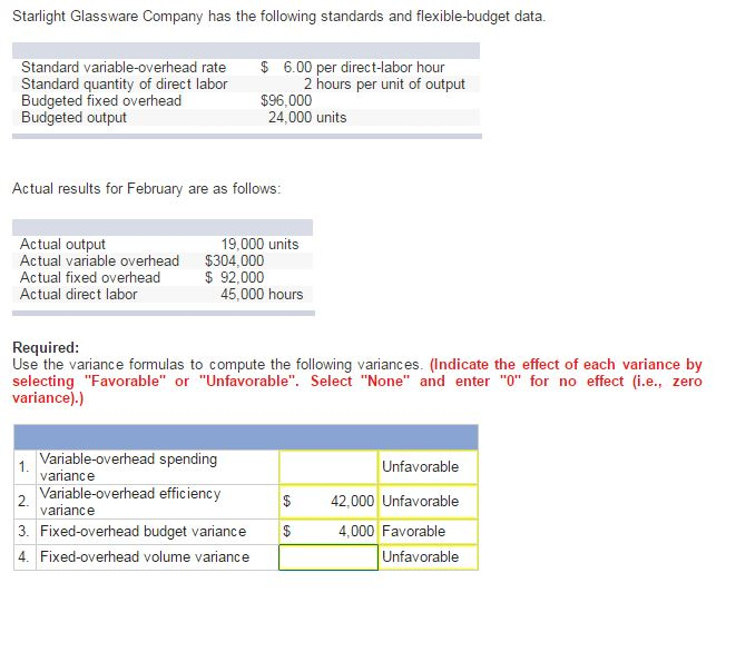 standard costing and variance analysis questions and answers pdf