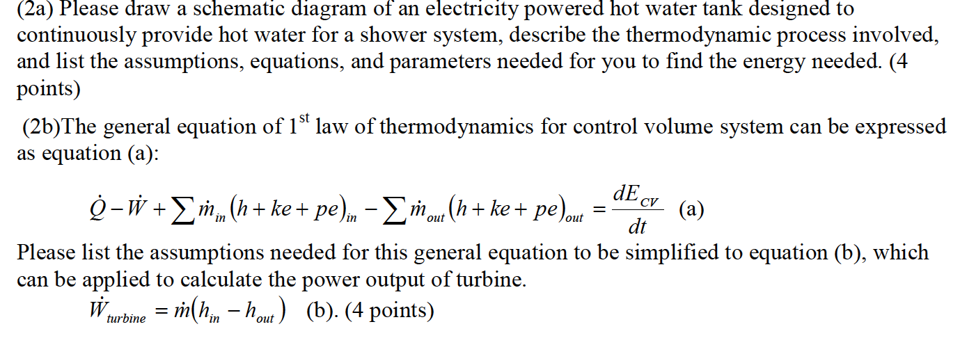 Solved: (2a) Please Draw A Schematic Diagram Of An Electri ...