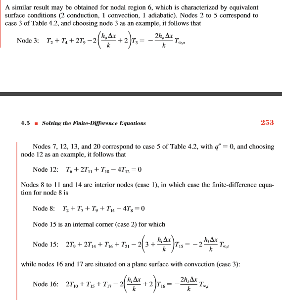 Solved: HEAT TRANSFER EXAMPLE 4 3: MATLAB CODE For 2D Cond