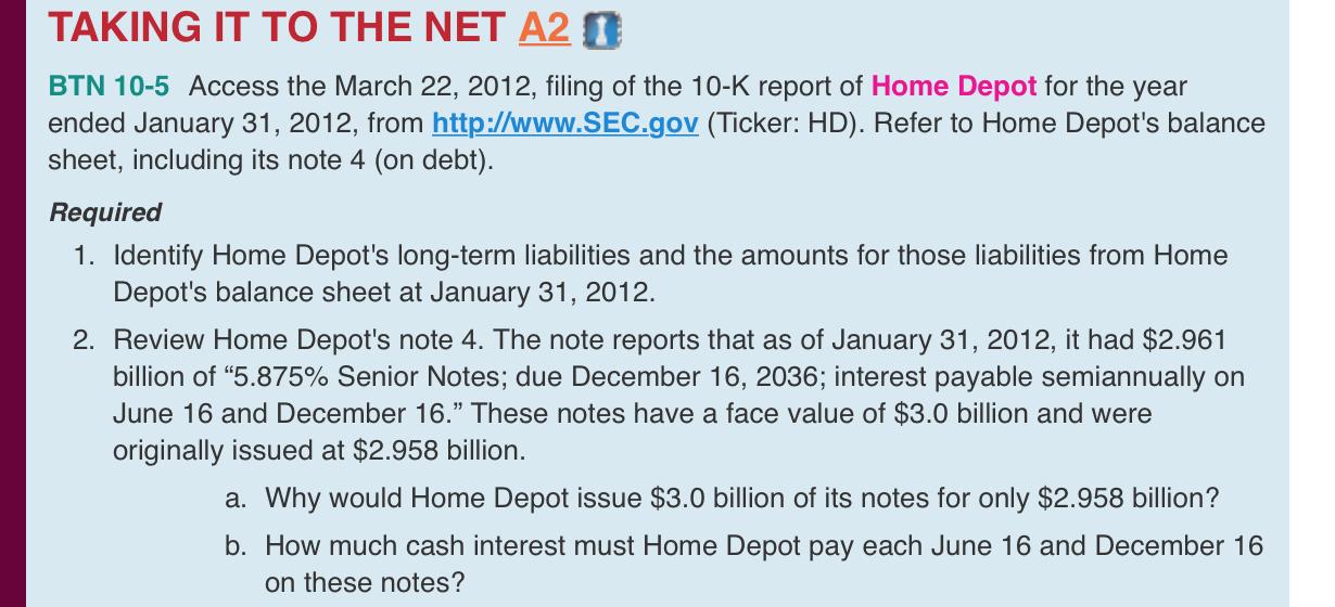 Access The March 22, 2012, Filing Of The 10-K Repo... | Chegg.com