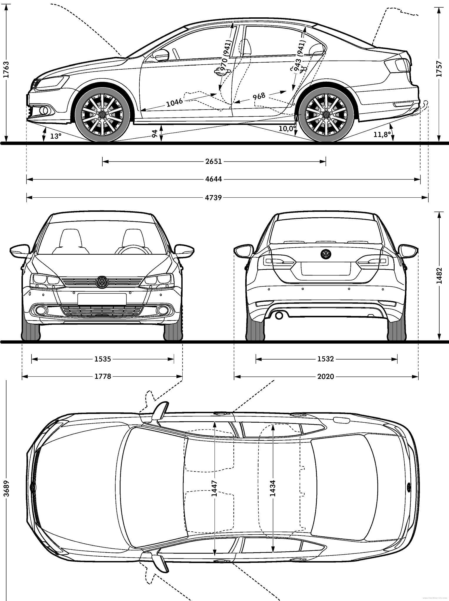 Find The Blueprint And Turning Diameter Of A Car F... | Chegg.com