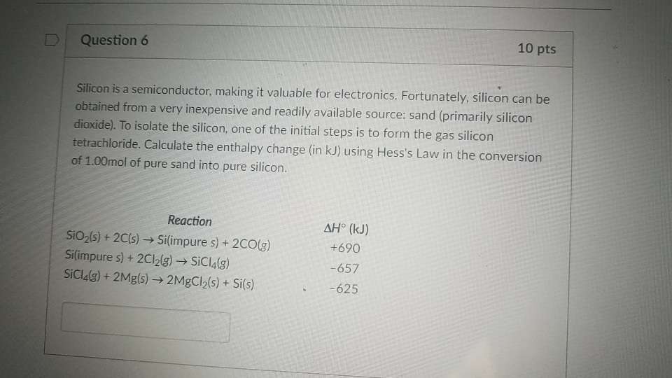 Solved: D Question 6 10 Pts Silicon Is A Semiconductor, Ma
