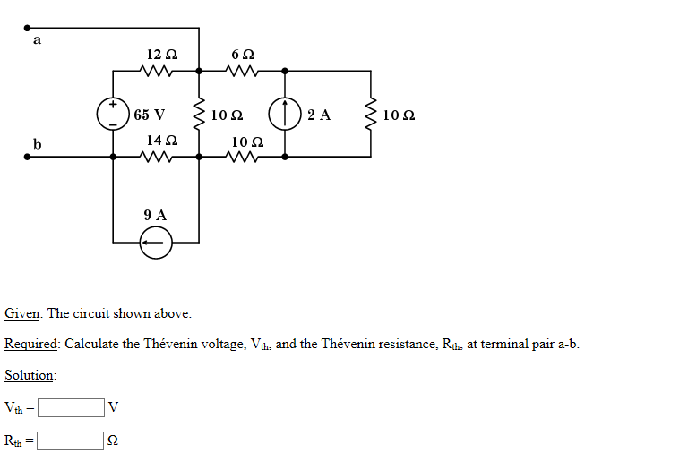 solved  given  the circuit shown above  required  calculat