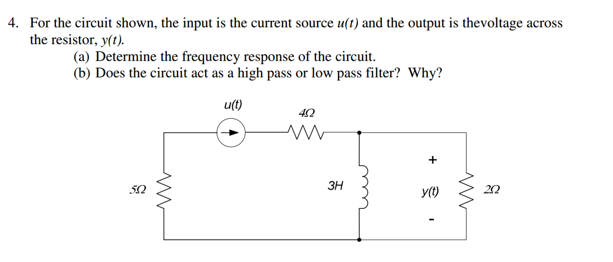Solved For The Circuit Shown Input Is Current So Order Low Pass Filter In Figure This