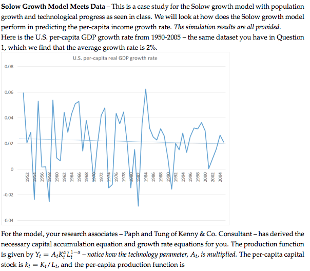 explain how the solow growth model I shall try to explain what i mean in a few words which was based on harrod's growth model robert m solow - prize lecture: growth theory and after.