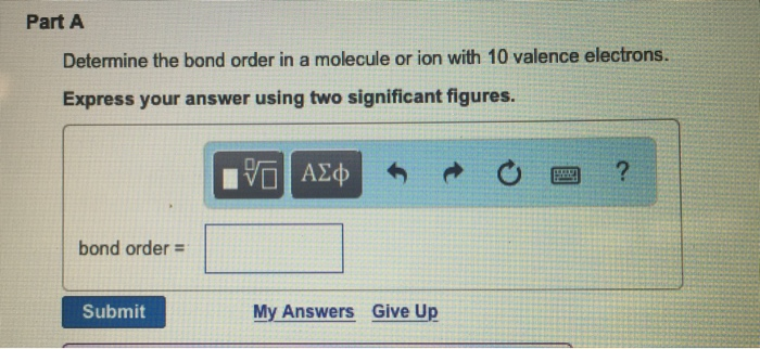 How To Determine Bond Order Of A Molecule