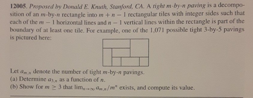Proposed By Donald E Knuth Stanford Ca A Right M