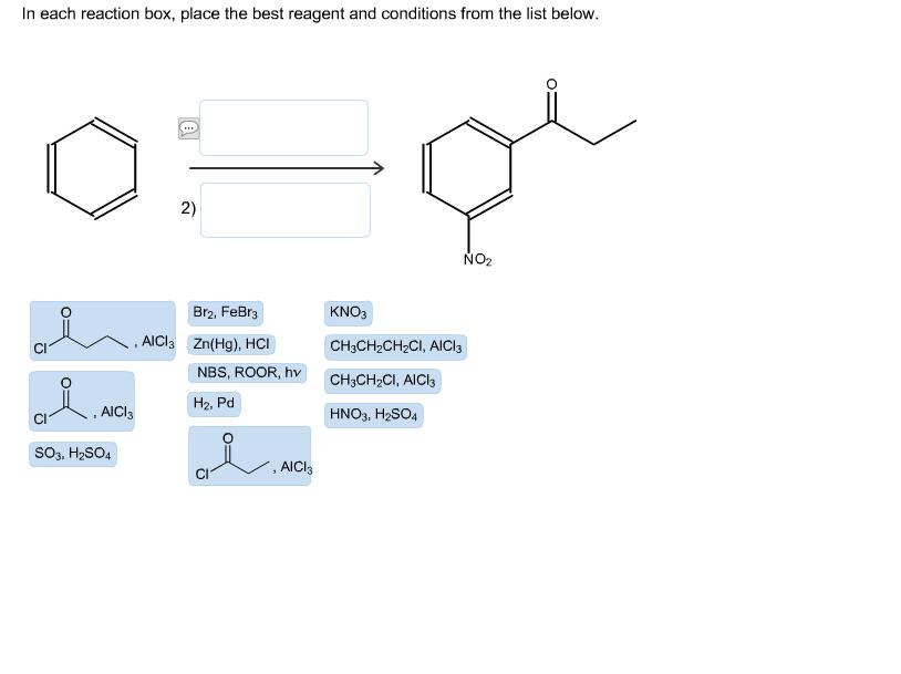 each reaction box  place the best reagent andconditions from the list    In Each Reaction Box, Place The Best Reagent And Conditions From The List Below. Deet