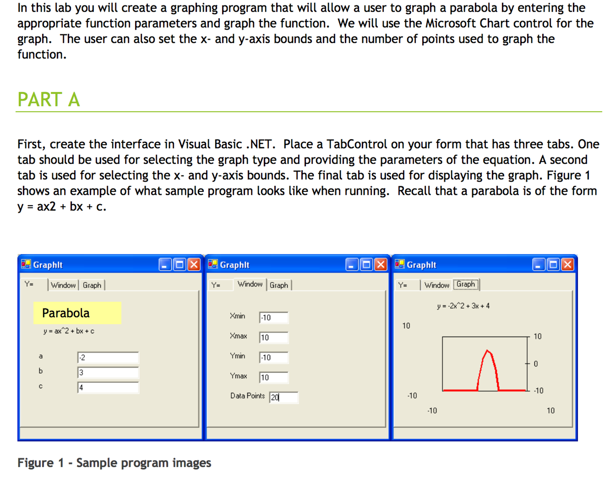 In This Lab You Will Create A Graphing Program Tha    | Chegg com