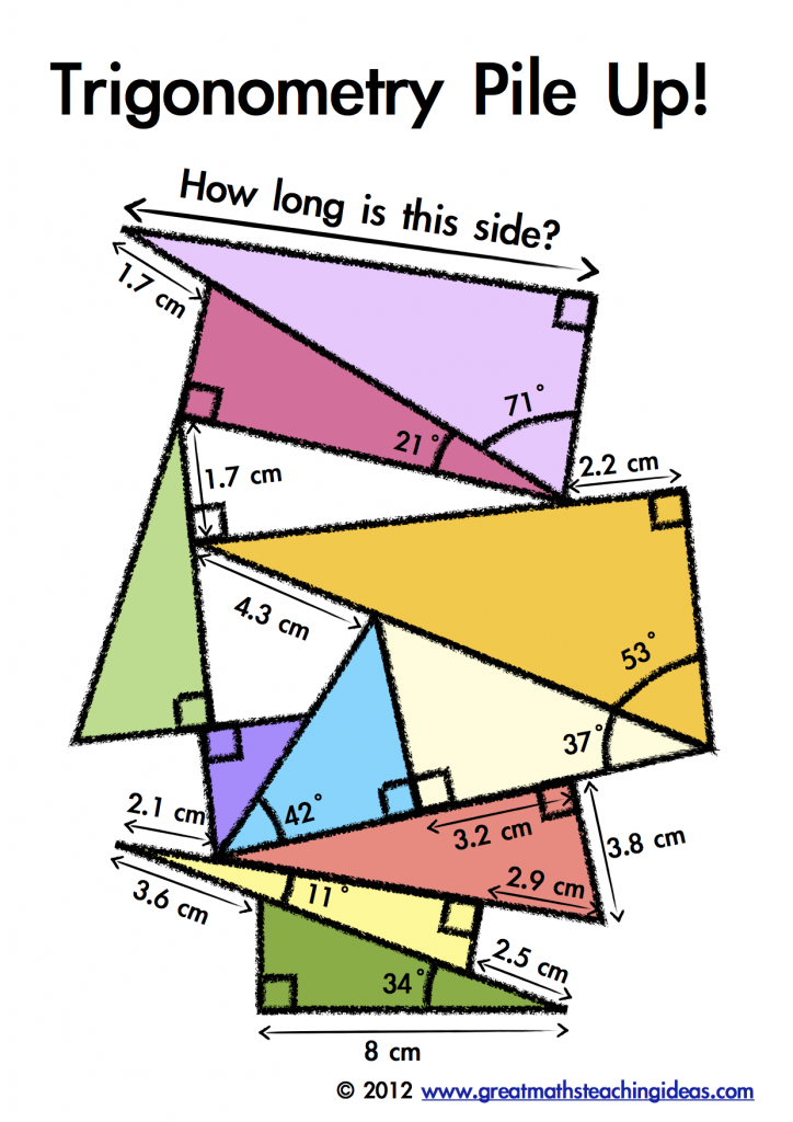 Solved: Trigonometry Pile Up! How Long Is This Side? 71 21 ...