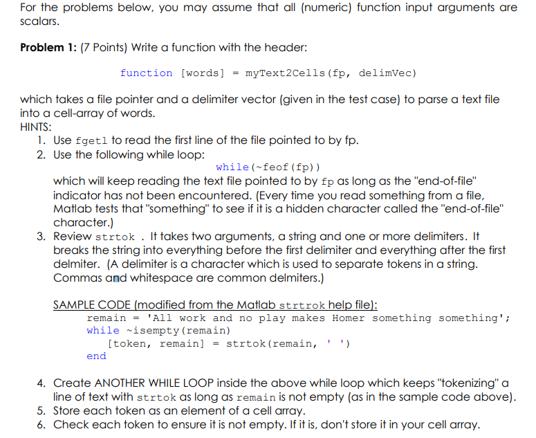 problem 1 7 points write a function with the he chegg com