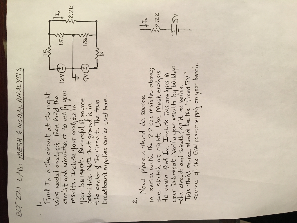 Solved I Specifically Need Help With 2 Here Am Gettin Will To Breadboard This And Report Some Results Ab Mesh Nodal Analysis Lk Find Ia In The