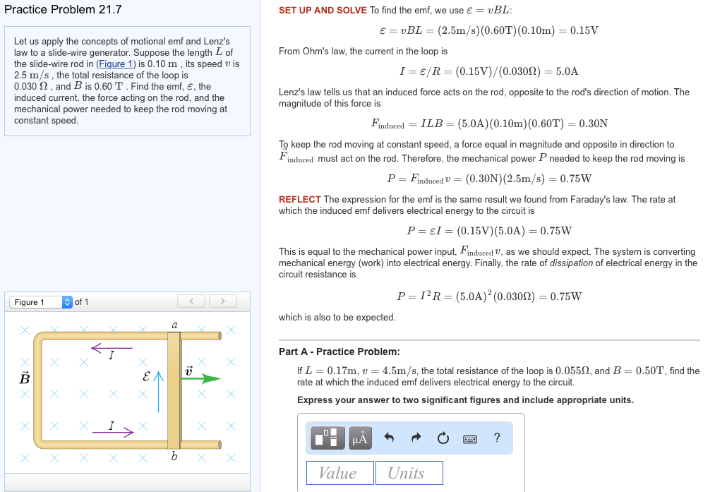 solved let us apply the concepts of motional emf and lenz rh chegg com