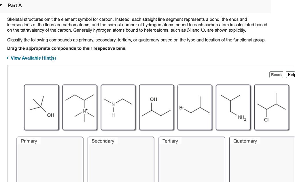 Solved Part A Skeletal Structures Omit The Element Symbol
