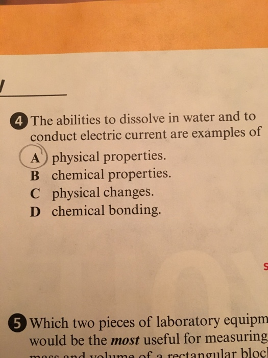 Solved The Abilities To Dissolve In Water And To Conduct