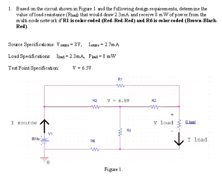 Based On The Circuit Shown In Figure  And The Following Designrequirements Determine