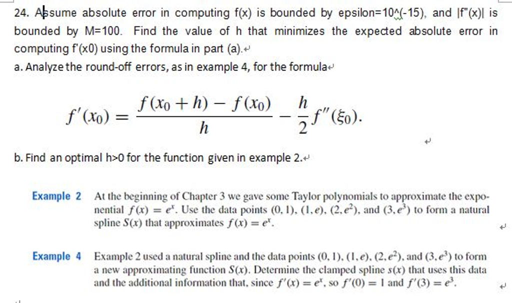 Please Help Me With My Math-Numerical Analysis Hom    | Chegg com