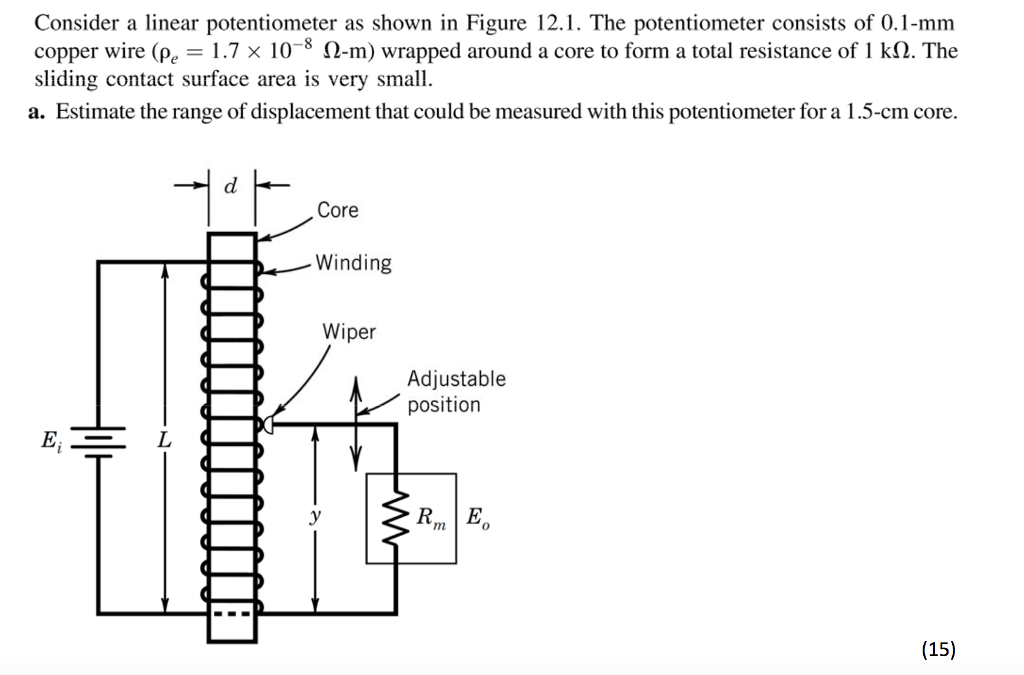 Solved consider a linear potentiometer as shown in figure consider a linear potentiometer as shown in figure 121 the potentiometer consists of 01 asfbconference2016 Gallery