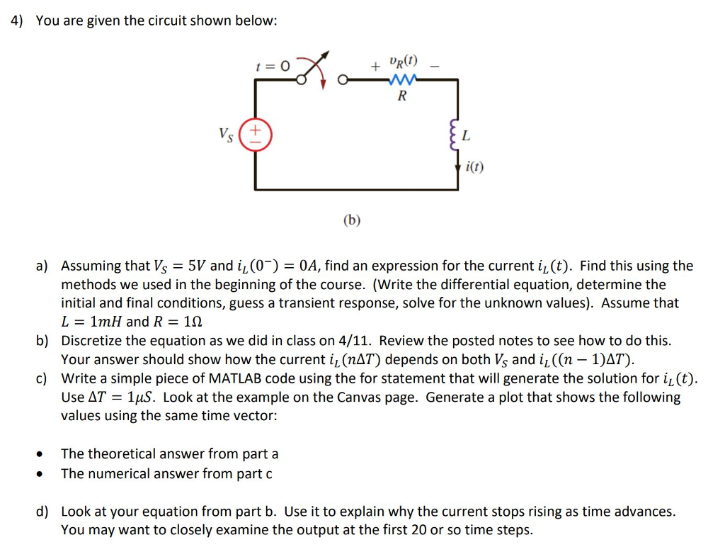 solved 4 you are given the circuit shown below t o ur rh chegg com