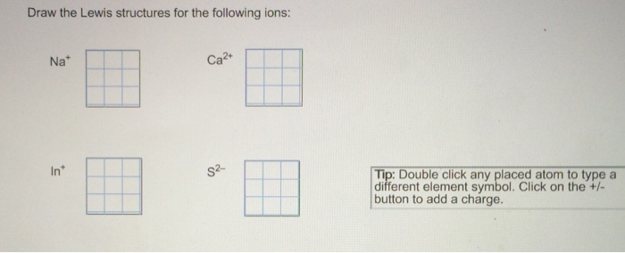 Draw The Electron Dot For Na: Solved: Draw The Lewis Structures For The Following Ions