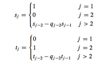 extended euclidean algorithm code
