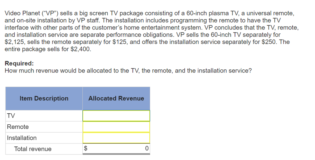 Solved Video Planet Vp Sells A Big Screen Tv Package