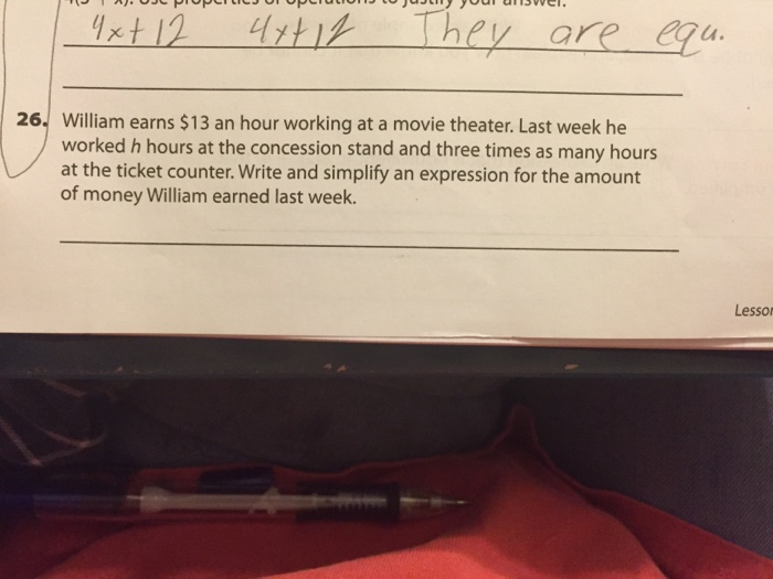 solved william earns 13 an hour working at a movie theat