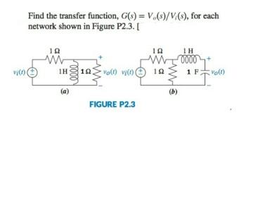 Find the transfer function, G(s) = V_o(s)/V_1(s),