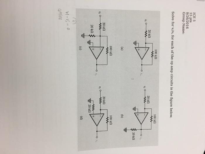 Solved: Solve For V_1/v_0 For Each Of The Op Amp Circuits ...