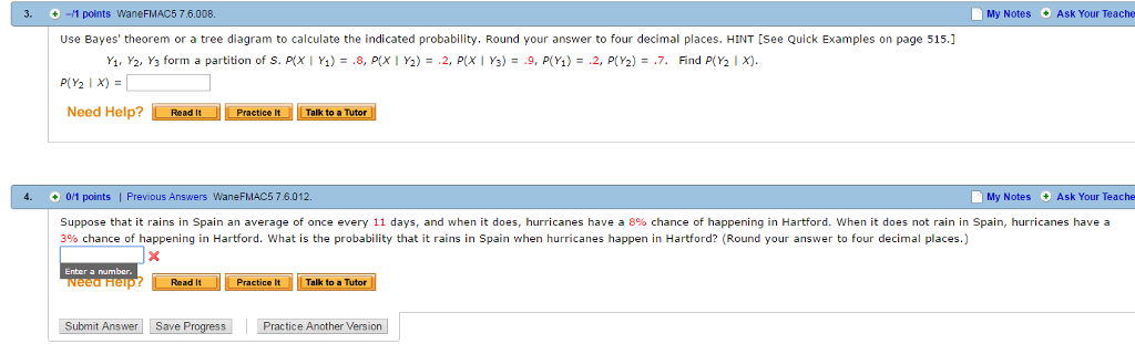 Solved Use Bayes Theorem Or A Tree Diagram To Calculate