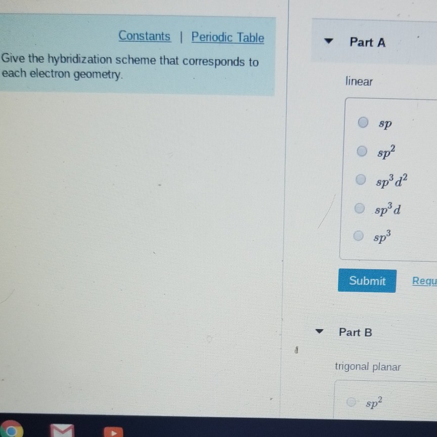 Solved Constants Periodic Table Part A Give The Hybridi
