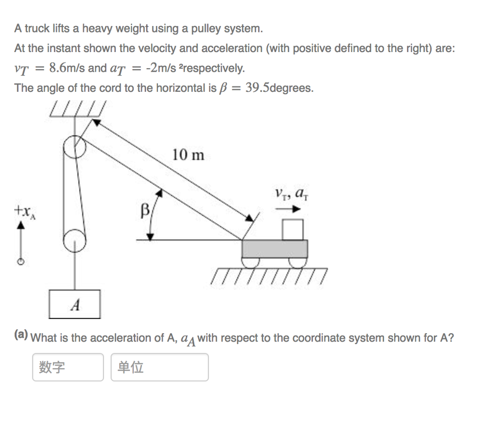 Solved: A Truck Lifts A Heavy Weight Using A Pulley System
