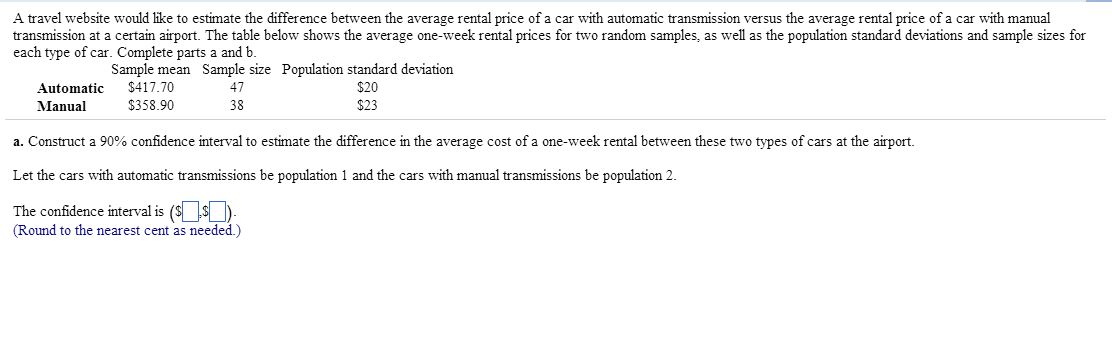The cost of manual transmission vs. Automatic transmission.