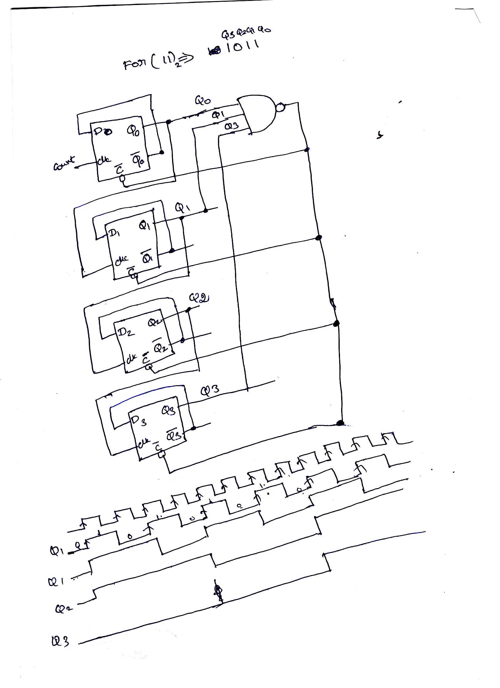 solved 1 design the 3 bit binary counter of asynchronous Latch Design design the 3 bit binary counter of asynchronous type ripple architecture the circuit should count up from to 11 and repeat