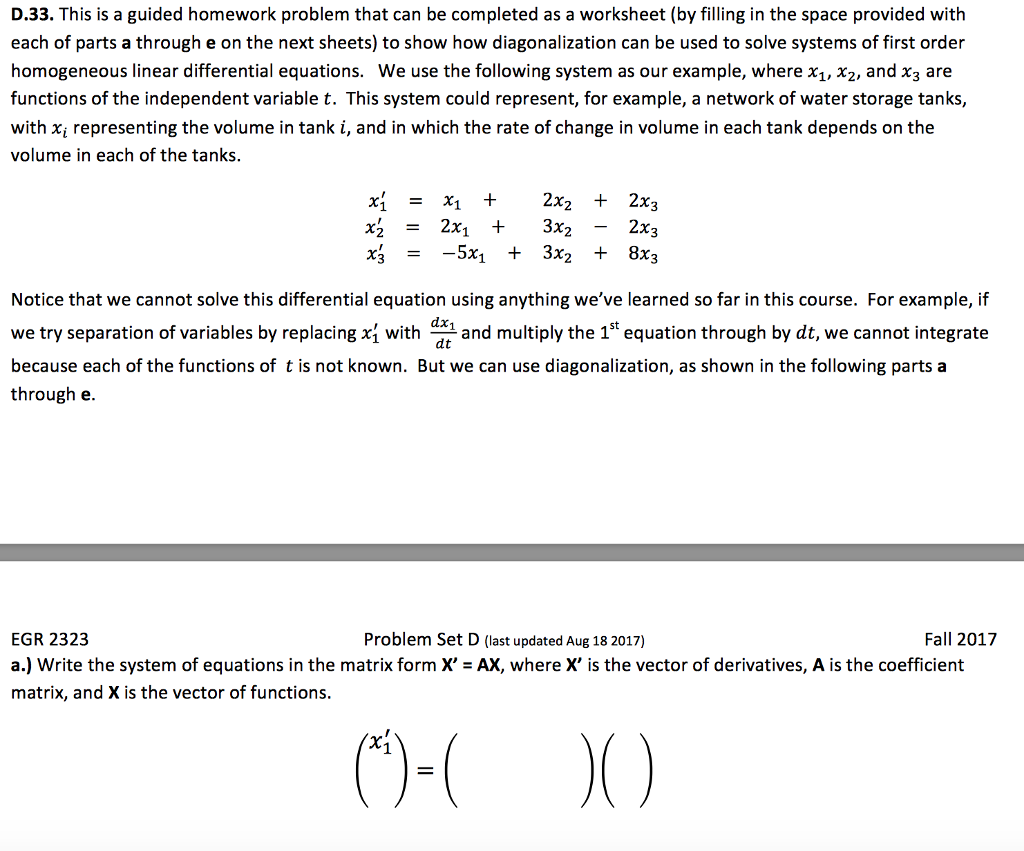Solved D 33 This Is A Guided Homework Problem That Can B