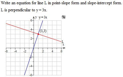 point slope form questions  Solved: Write An Equation For Line L In Point-slope From A ...