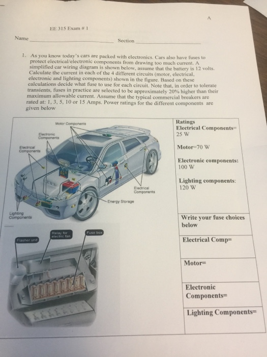technical car experts answers everything you need fuse box on  solved ee 315 exam 1 name section 1 as you know today technical car experts answers everything you need fuse box on