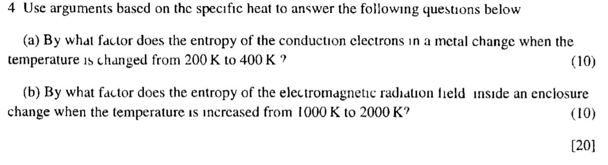 Use arguments based on the specific heat to answer