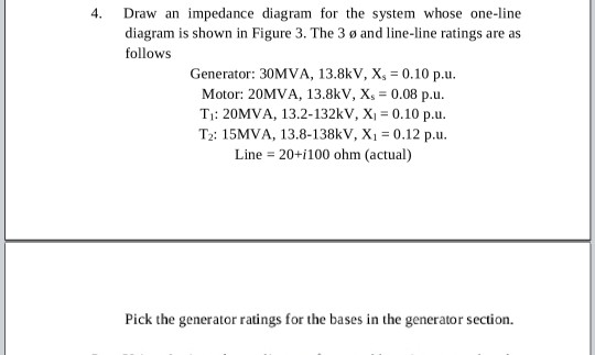 Solved: 4  Draw An Impedance Diagram For The System Whose